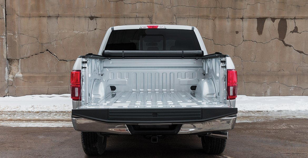 Rolled Up Tonneau Cover Rear View