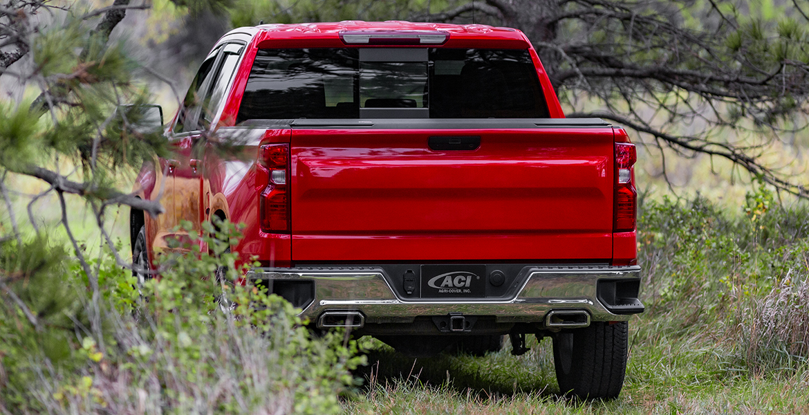 Red Chevy Tonneau Cover
